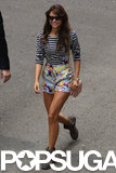 Nina Dobrev arrived in style for Comic-Con.