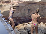 Bar Refaeli jumped from a yacht in Spain.