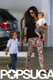 Camila Alves was out with little Levi and Livingston in LA on Friday.