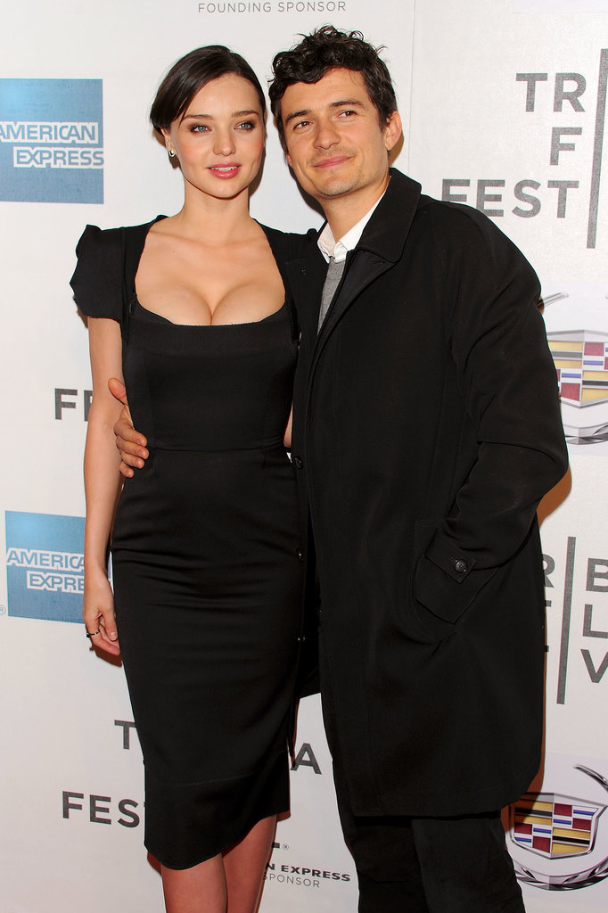 Orlando kept his arm around Miranda at the premiere of his movie The Good Doctor during the Tribeca Film Festival in Apr. 2011.