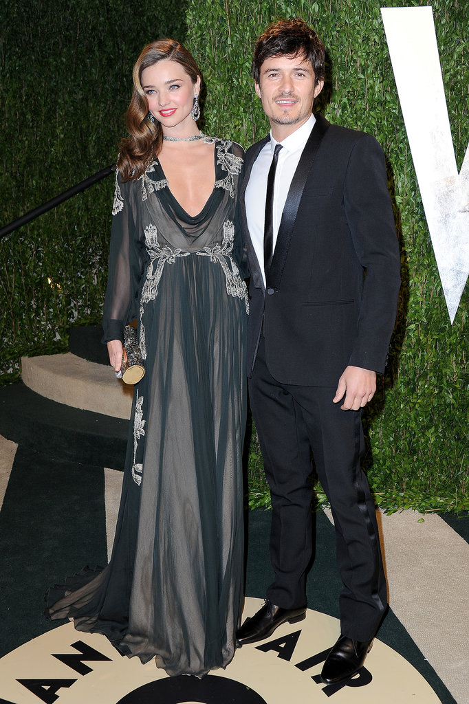 Miranda and Orlando made a sexy entrance to Vanity Fair's annual Oscars party in LA in Feb. 2013.