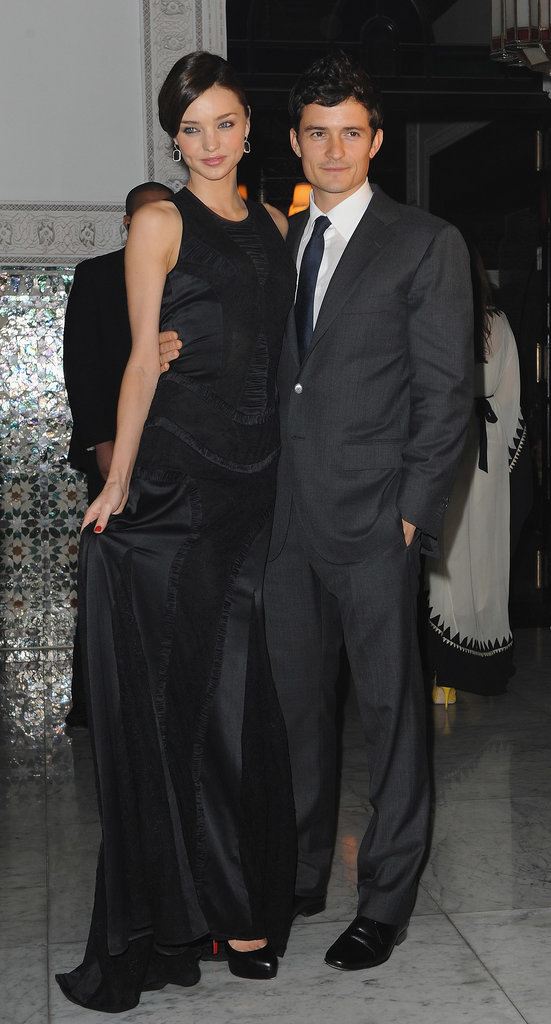 Miranda Kerr and Orlando Bloom at the Mamounia hotel, Morocco, inauguration in 2009.