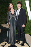 Miranda plays the vamp in a dark, plunging Valentino gown at the 2013 Vanity Fair Oscar Party.
