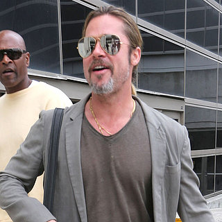 Brad Pitt Arrives at LAX | Photos