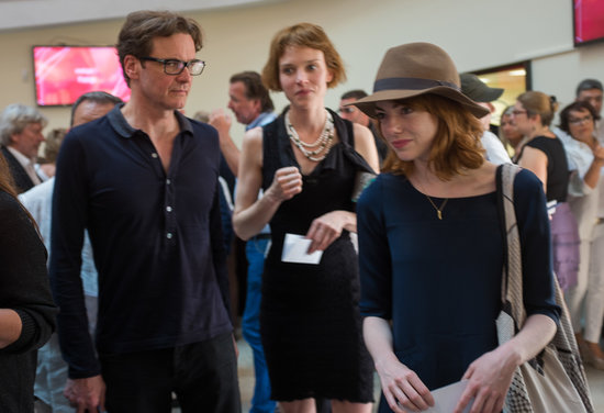 Emma Stone and her costar Colin Firth attended their director Woody Allen's concert in Antibes.