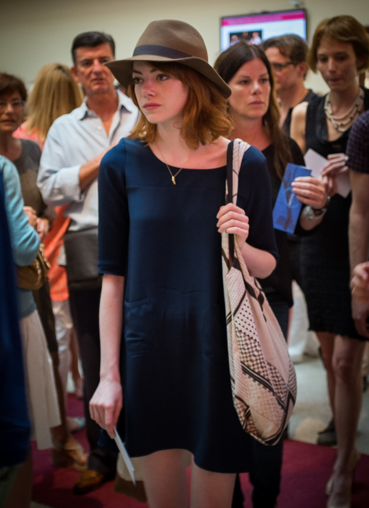 Emma Stone attended her director Woody Allen's Antibes concert.