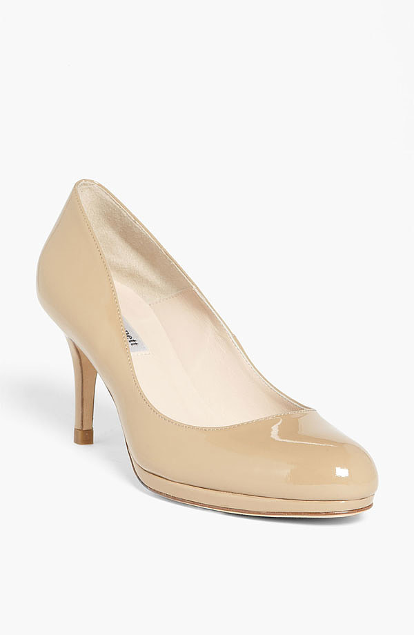 Nude L.K.Bennett  pumps ($325) have long been a favorite for the duchess. We think she owes herself a brand-new pair after all that hard work (or sized up a bit if her feet are feeling swollen).