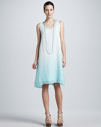 Eileen Fisher Ombre Layered Linen Dress