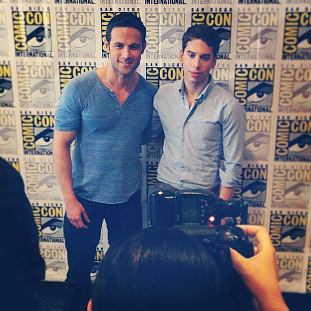 The boys of Orphan Black — Dylan Bruce and Jordan Gavaris.