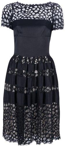 Temperley London contrast cut-out dress