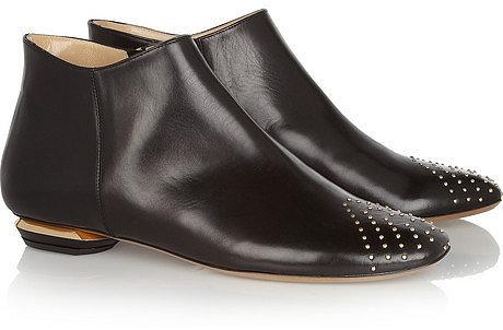 Nicholas Kirkwood Studded leather ankle boots