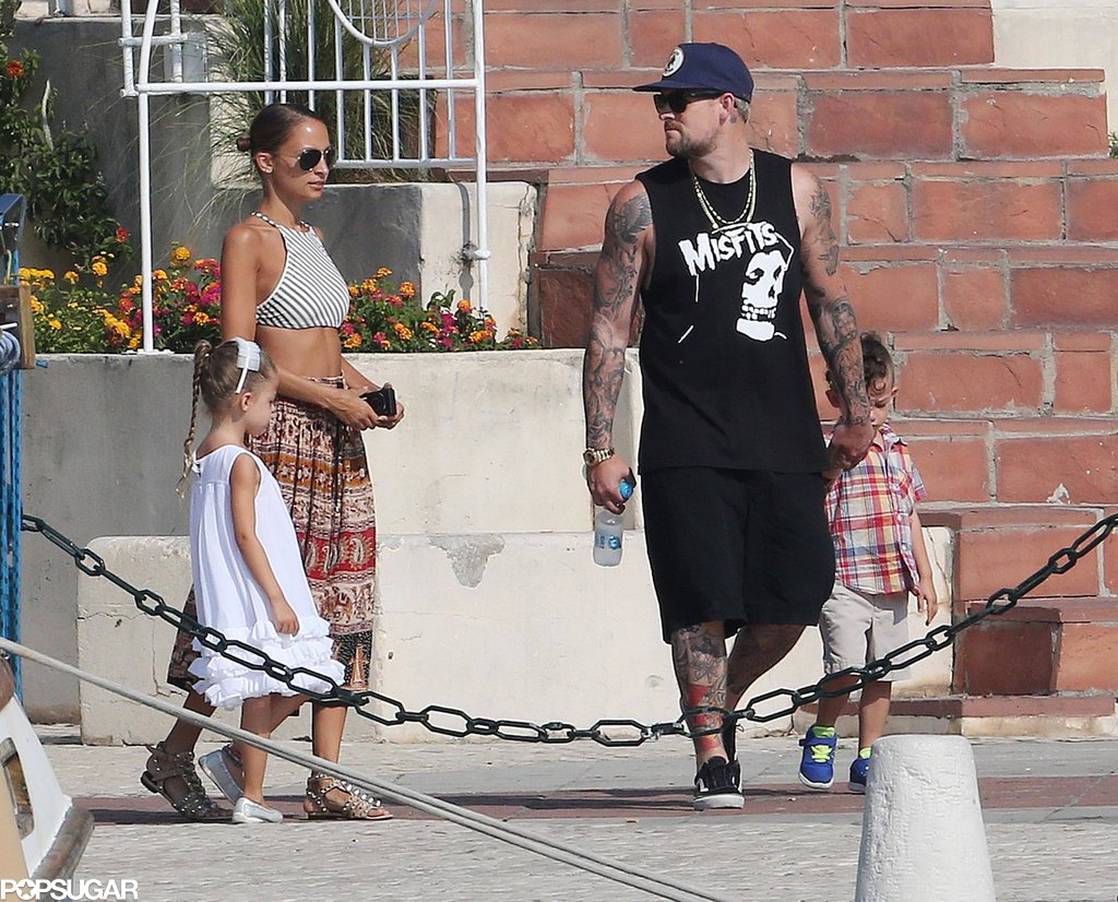 Nicole Richie and Joel Madden took their children for a shopping trip in the South of France.
