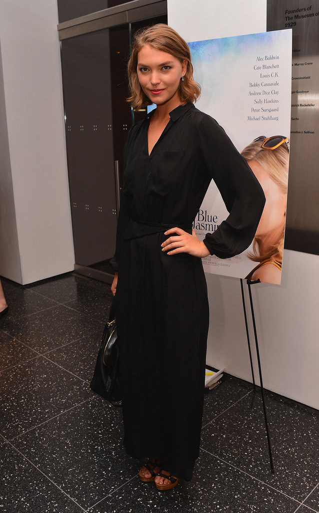 Arizona Muse worked a not-so-basic black ensemble at the MoMA premiere of Blue Jasmine.
