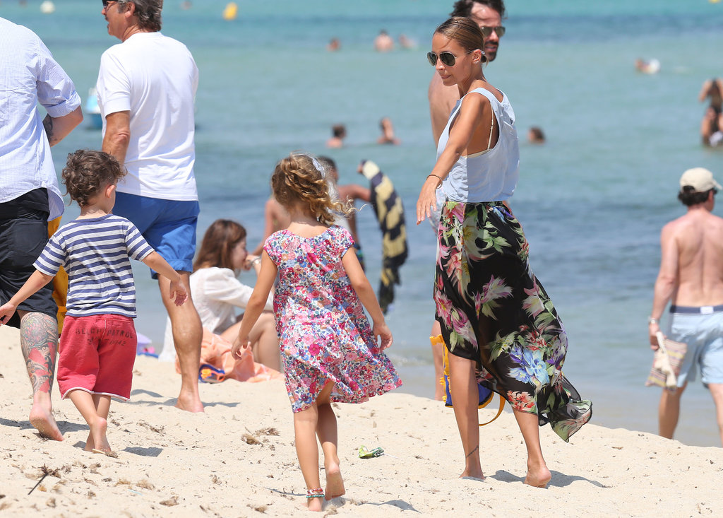 Nicole Richie spent time with her kids in Saint-Tropez.