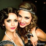 Nina Dobrev posed with Maria Menounos at Julianne Hough's birthday. Source: Nina Dobrev on WhoSay