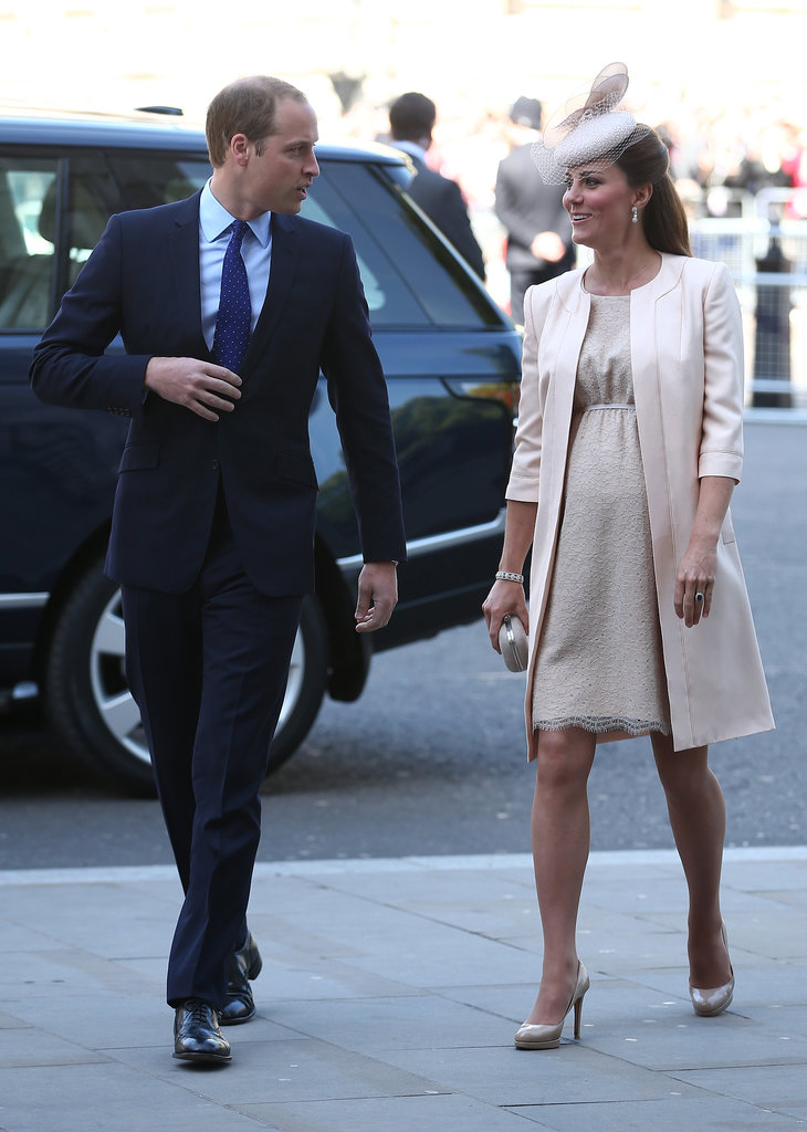 William and Kate made their way to a service to celebrate the 60th anniversary of the coronation of Queen Elizabeth II at Westminster Abbey in June 2013.