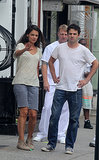 Katie Holmes and Luke Kirby shot scenes for Mania Days in NYC on Tuesday.
