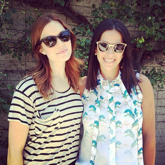 Mandy Moore logged time with her designer pal Rebecca Minkoff — we love the RM shades! Source: Instagram user rebeccaminkoff