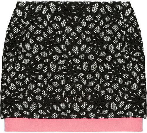 Diane von Furstenberg Elley cotton-blend lace skirt