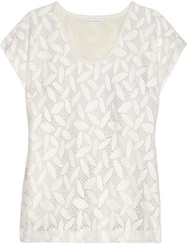 Diane von Furstenberg Acedia cotton-blend lace top