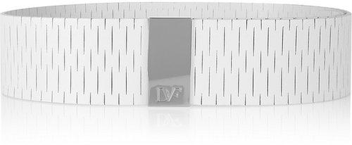 Diane von Furstenberg Kerry laser-cut leather belt