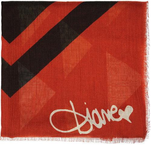 Diane von Furstenberg Stanhope printed wool, silk and cashmere-blend scarf