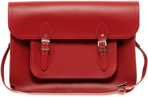 """Cambridge Satchel Company Red Leather 11"""" Satchel"""