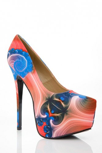Alba Bright Abstract Print Pumps