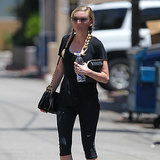 Guess Which Star Wore Pigtails to the Gym in LA This Week?