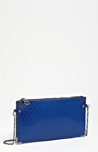 POVERTY FLATS by rian Faux Leather Crossbody Clutch Green