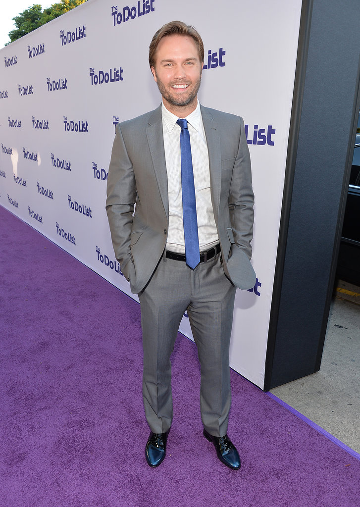 Scott Porter stepped out to premiere The To Do List in LA.
