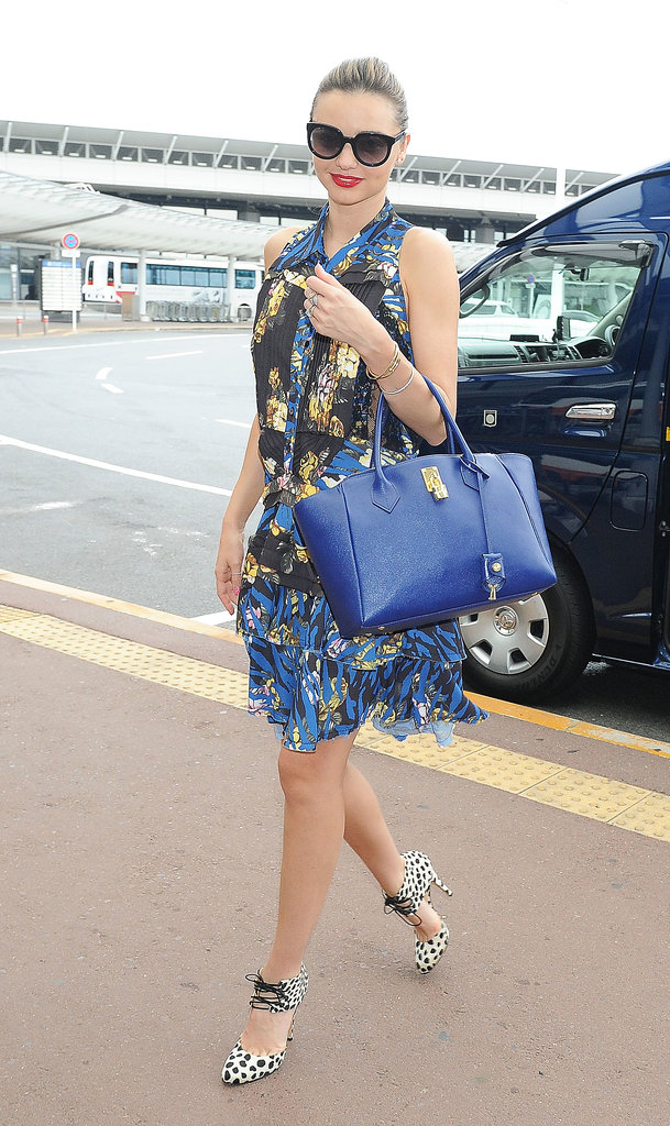 Miranda Kerr jetted out of Tokyo today.