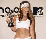 Jennifer went for a sporty style at the 2000 MTV Video Music Awards, donning a series of braids under a bedazzled sweatband.