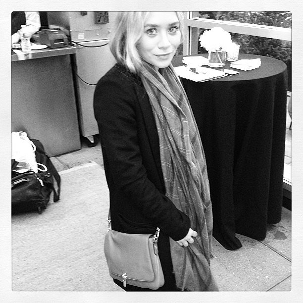 Ashley Olsen gave a glimpse of the latest handbag for Elizabeth and James's Nordstrom collection. Source: Instagram user elizandjames