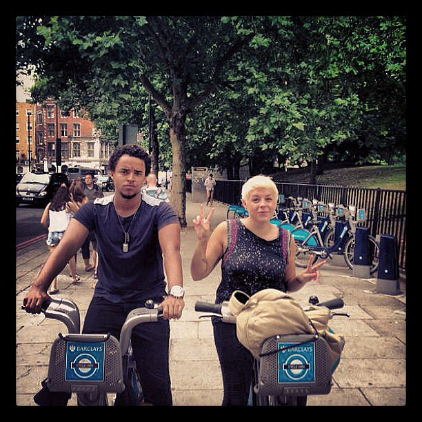 Connor Cruise and his sister Isabella explored London together on bikes. Source: Instagram user theconnorcruise