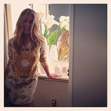 Cat Deeley posed in a printed Shareen Vintage dress. Source: Instagram user catdeeley