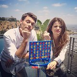 Ryan Seacrest and Selena Gomez got embroiled in a game of Connect Four. Source: Instagram user ryanseacrest