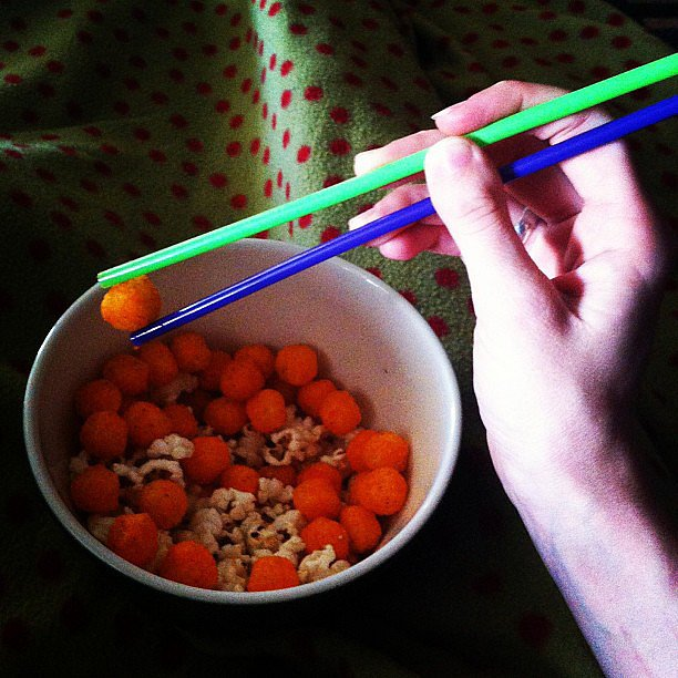 Eat Snacks With Chopsticks