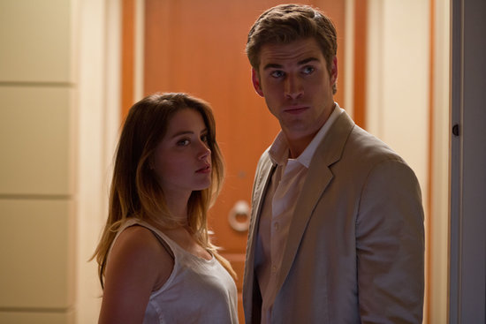 Amber Heard and Liam Hemsworth in Paranoia.