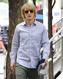 Owen Wilson continued filming for Squirrels to the Nuts in NYC on Wednesday.