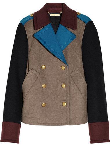 Marc by Marc Jacobs Nicoletta color-block wool-blend felt jacket