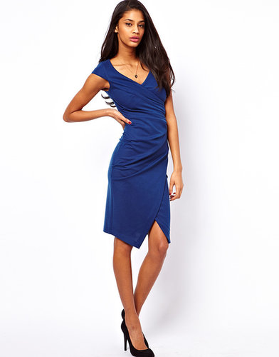 ASOS Pencil Dress With Ruched Wrap