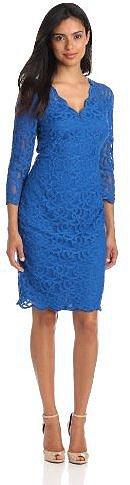 Adrianna Papell Women's Scallop Edge Dress
