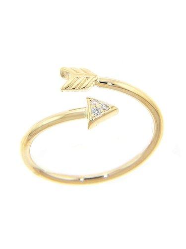 CAMPISE Diamond Arrow Twist Ring