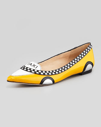 Kate Spade New York Go Taxi Pointed-Toe Flat