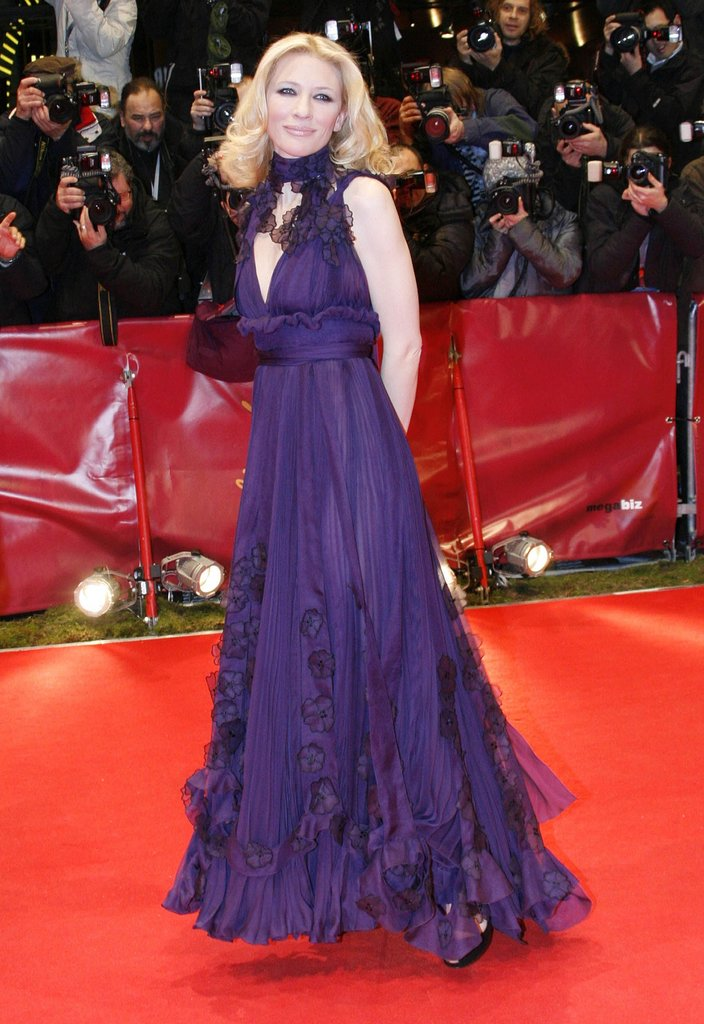 Cate Blanchett in Purple Yves Saint Laurent at the 2007 Berlin International Film Festival