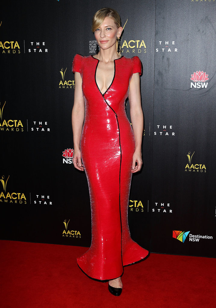 Cate Blanchett in Sequined Armani Privé at the 2013 AACTA Awards