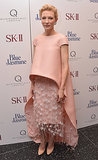 In one of her recent looks, Cate Blanchett was a vision in pink at the Blue Jasmine premiere in NYC. With all that texture and play on proportions, her Balenciaga ensemble was nothing short of spectacular.