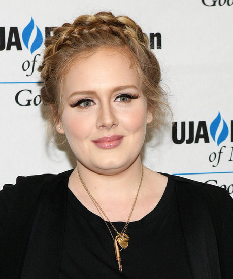 Adele skipped her signature bouffant for a crown of braids that were more warm-weather friendly.