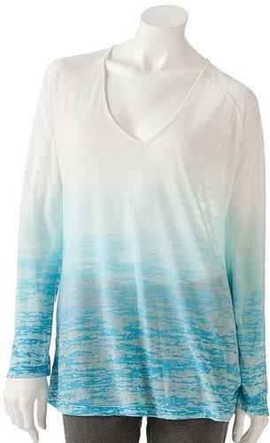 Free society dip-dye burnout tunic